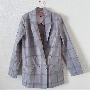 CABI | SLEUTH | PLAID | LONG HEMLINE BLAZER | a14